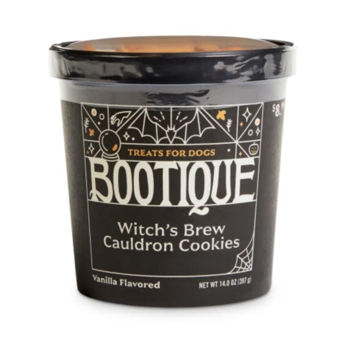 Bootique Witch's Brew Cauldron Cookies Carob & Vanilla-Flavored Halloween Dog Treats