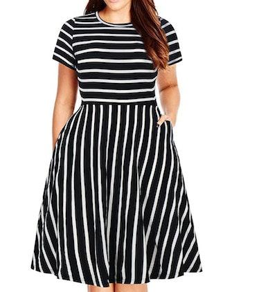 Nemidor Women's Summer Casual Midi Dress with Pockets