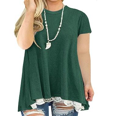 VISLILY Womens Plus Blouse Shirt