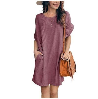 IWOLLENC Tunic Dress