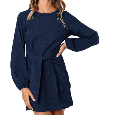 PRETTYGARDEN Women's Belted Dress with Pockets