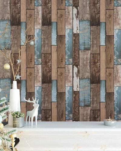 Heroad Wood Plank Removable Wallpaper