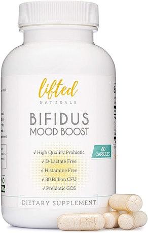 Lifted Naturals Bifidus Mood Boost Probiotic (60 Capsules)