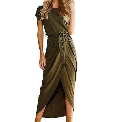 Yidarton Women's Casual Short Sleeve Maxi Dress