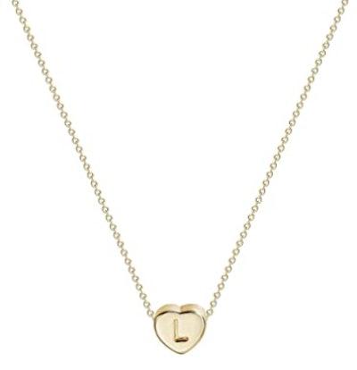 Fettero Personalized Letter Heart Necklace