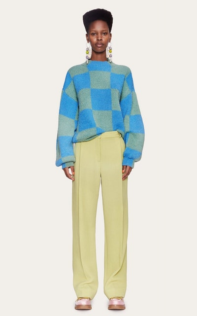 Adonis Oversized Checked Knit Sweater