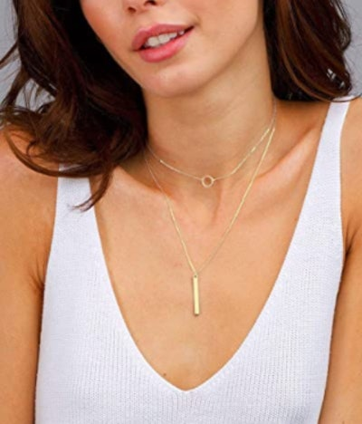 S.J JEWELRY Delicate Full Moon Necklace
