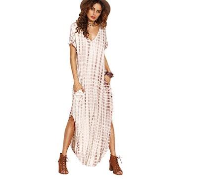 MakeMeChic Women's Boho Maxi Dress