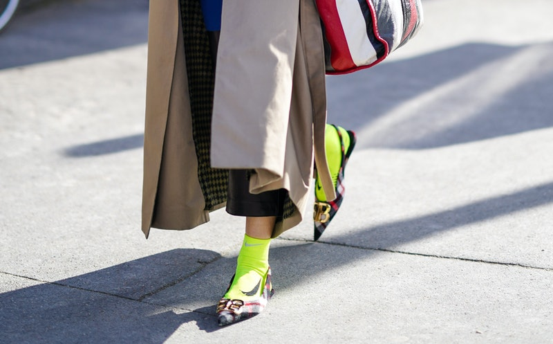 Styling ballet flats with socks is an easy way to make them fall-appropriate