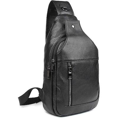 Texbo Full Grain Leather Crossbody Sling Bag