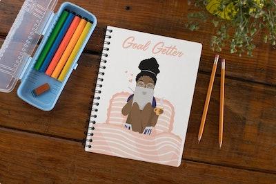 Goal Getter Black Girl Notebook