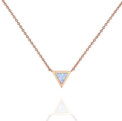PAVOI Gold Triangle Opal Necklace