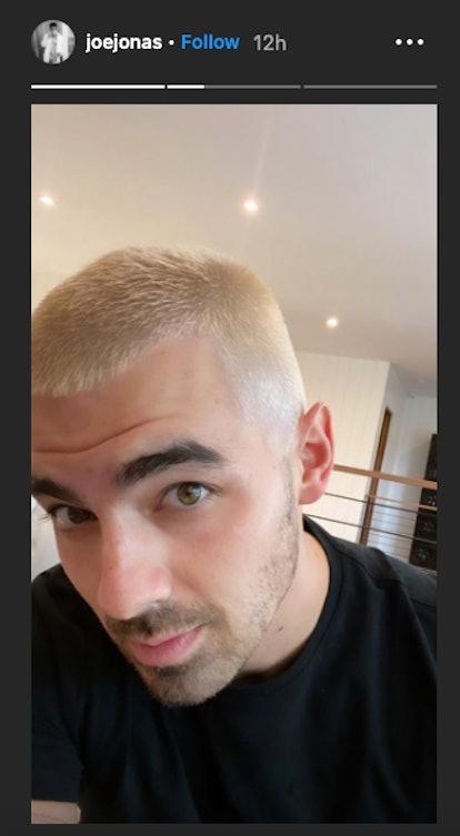 Joe Jonas has blond hair.