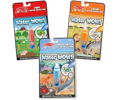 Melissa & Doug Water Wow Bundle: Farm, Safari And Under The Sea (3-Pack)