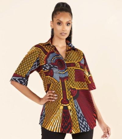 African Print Mimi Shirt