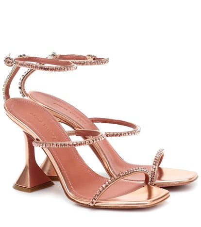 Gilda Metallic-Leather Sandals