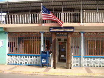 The Post Office in Culebra, Puerto Rico.