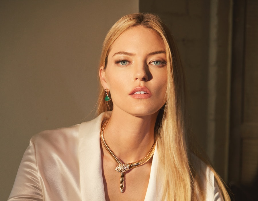 Martha Hunt's Bvlgari campaign is here