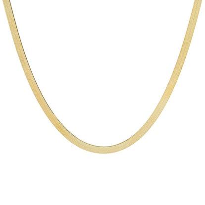 Liquid Herringbone Necklace 14K