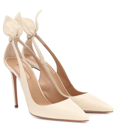 Bow Tie 105 Leather Pumps
