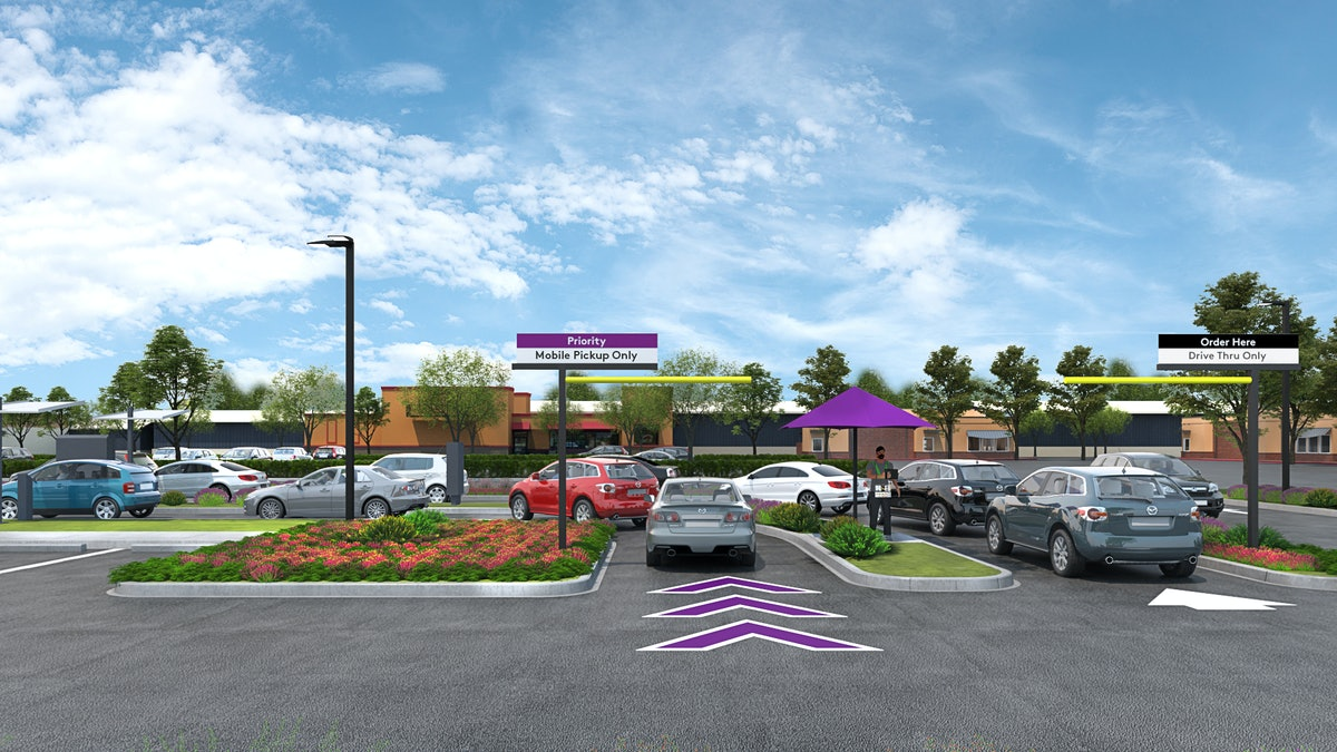 Taco Bell's new Go Mobile restaurants will include a mobile pickup only drive-thru lane.