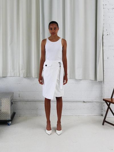 Utility Wrap Skirt : Chalk