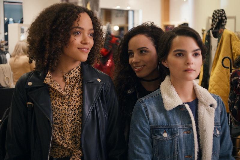 Quintessa Swindell as Tabitha, Kiana Madeira as Moe, and Brianna Hildebrand as Elodie in 'Trinkets' Season 2