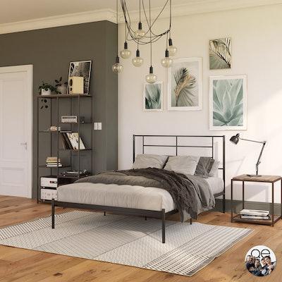 Jensen Modern Metal Bed, King