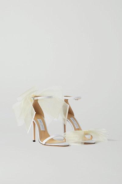 Aveline 100 Bow-Embellished Grosgrain Sandals
