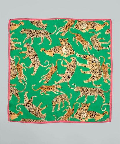 Prowling Ocelot Silk Square