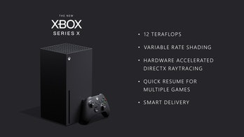 A photo of the Xbox Series X.