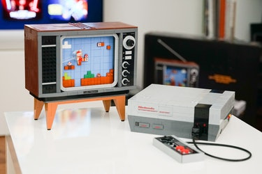 We need to turn this Lego NES and TV into functional versions.