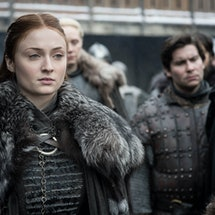 Sophie Turner Has Sansa's Throne From 'Game Of Thrones' (via HBO press site)