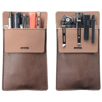 diodrio Leather Pen Pouch Holder Organizer
