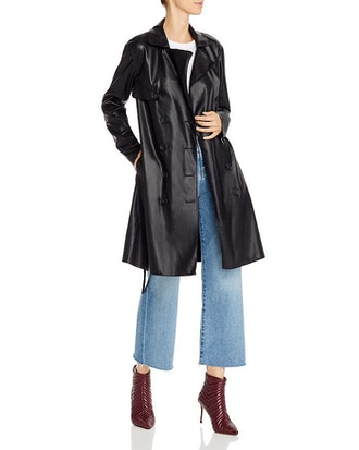 Faux Leather Trench Coat - 100% Exclusive