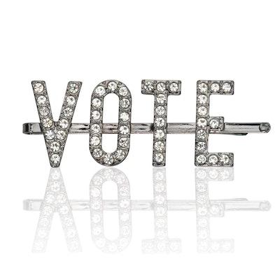 Kitsch x When We All Vote Rhinestone Bobby Pin
