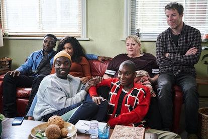 Weruche Opia, Paapa Essiedu, Harriet Webb, Stephen Wight, Michaela Coel in I May Destroy You on HBO via WARNER MEDIA PRESS SITE