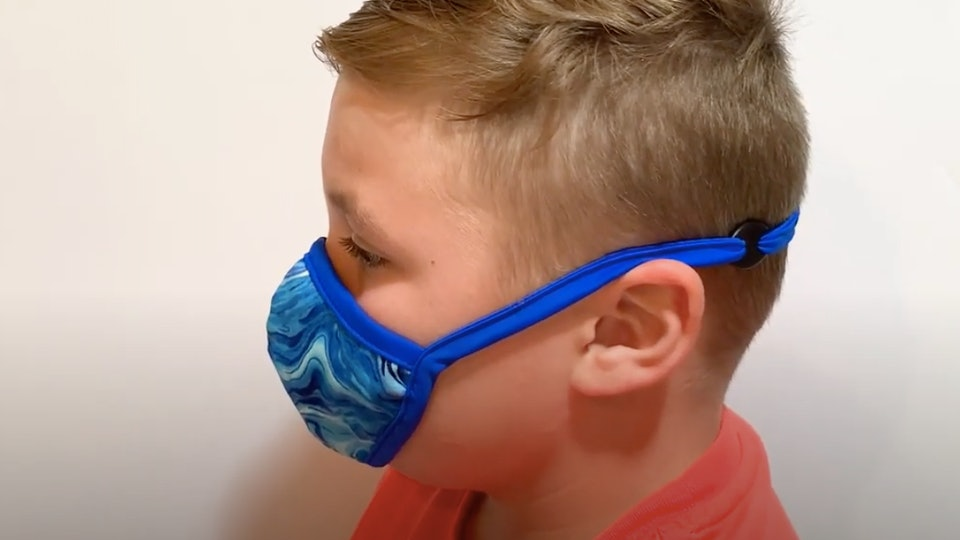 Behind-the-head Sensory Mask for kids from Autism Products