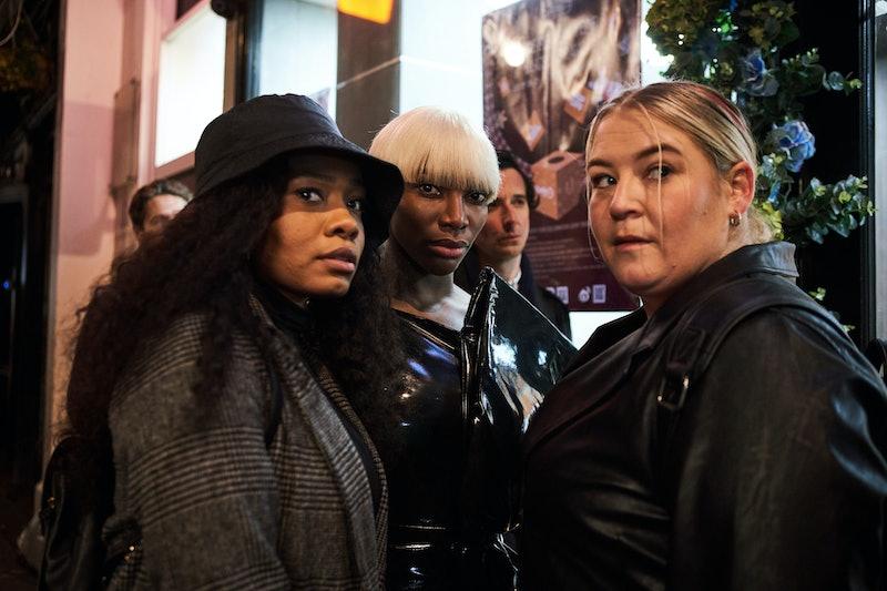 Weruche Opia, Michaela Coel, and Harriet Webb in I May Destroy You via WARNER MEDIA PRESS SITE