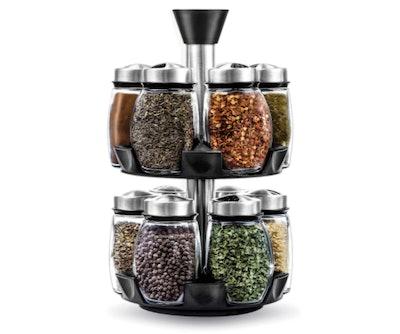 Belwares 12-Jar Revolving Spice Rack Organizer
