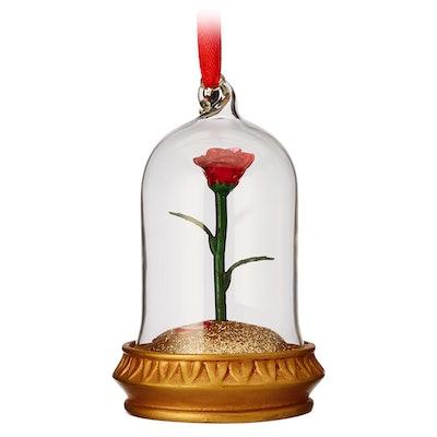Enchanted Rose Light-Up Hanging Ornament