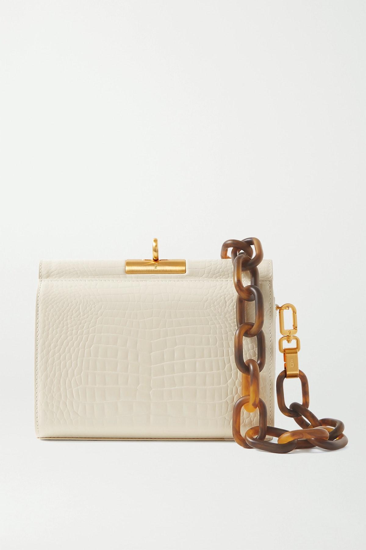 Gemma Croc-Effect Leather Tote