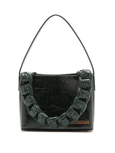 Noeud Chain-Handle Craquelure-Leather Bag