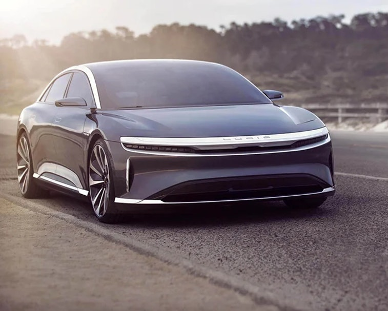 Lucid Air electric car.