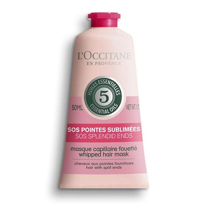 L'Occitane Whipped Hair Mask, SOS Splendid Ends Treatment