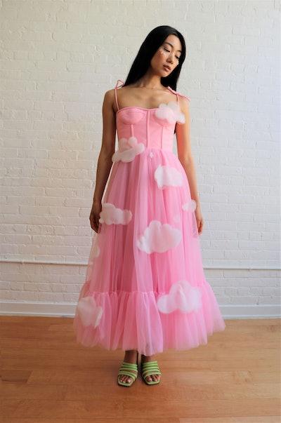 Lirika Matoshi Pink Skies Midi Dress