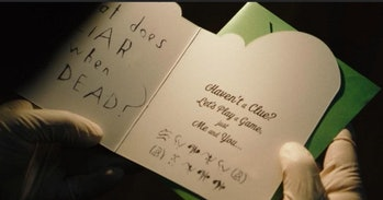 The Batman Riddler card riddle