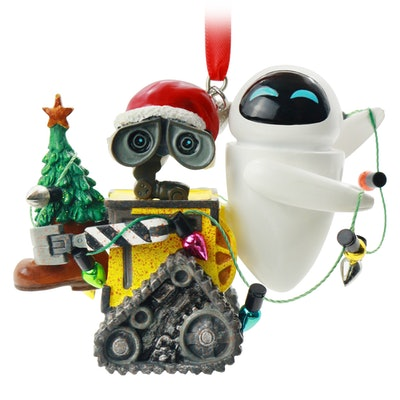 WALL-E and EVE Festive Hanging Ornament