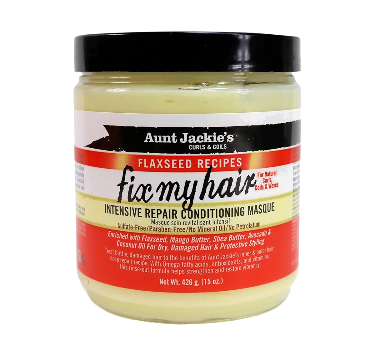 Aunt Jackie's Flaxseed Recipes Fix My Hair, Intensive Repair Conditioning Masque