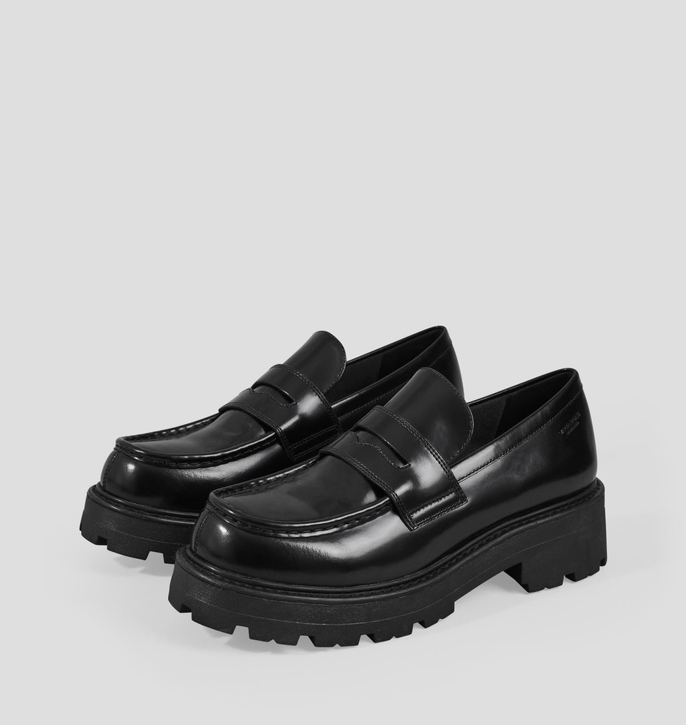 Cosmo 2.0 Black Polished Leather Shoes
